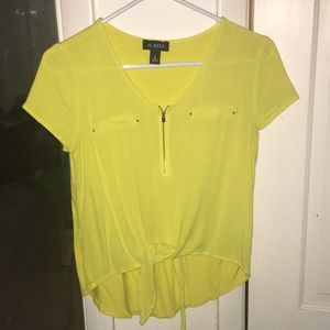 A. Byer Yellow Tie Top
